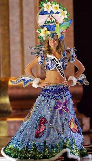 Trajes Nacionales de Fantasía de Miss Nicaragua